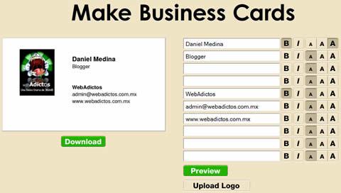 tarjetas de presentacion Tarjetas de presentacion gratis en Free PDFCards
