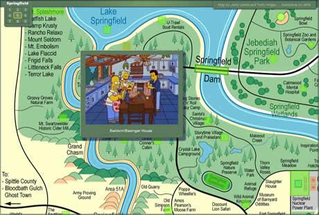 los simpsons springfield mapa Los simpsons, mapa interactivo de springfield
