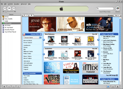 itunes iTunes music store en México