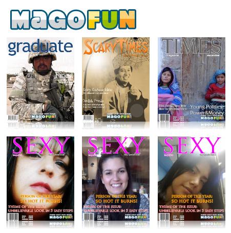 Pon tu foto en una revista con MagoFun
