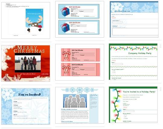 Plantillas de navidad Google Docs