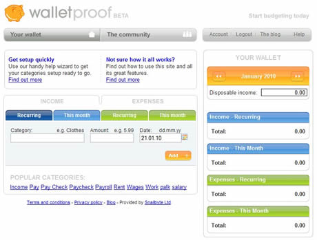 finanzas personales Controlar gastos con WalletProof