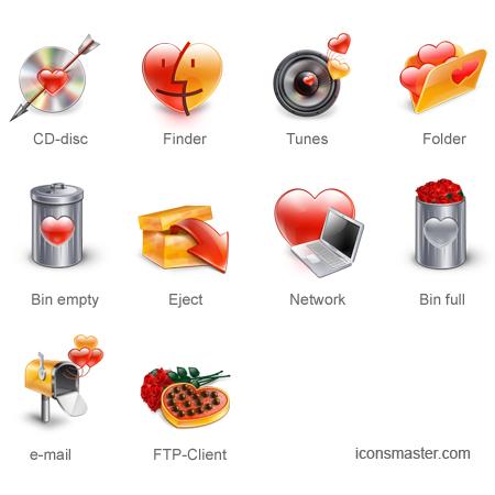 iconos amor y amistad Dia del amor, iconos y vectores gratis