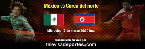 mexico corea en vivo Mexico vs Corea del Norte en vivo por internet