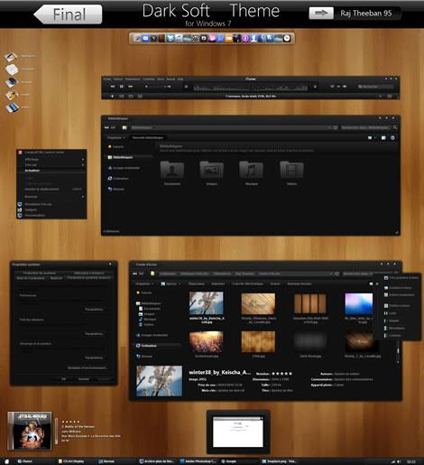 temas windows 7 dark Temas windows 7, Dark Soft
