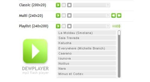 dew player Dewplayer, un estupendo reproductor musical para tu blog