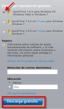 Quick Time 1 Como abrir archivos .mov en Windows