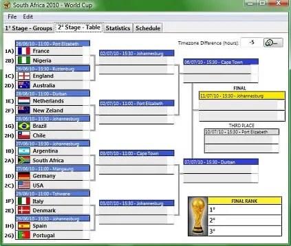 calendario sudafrica 2010 Partidos del mundial en tu computadora