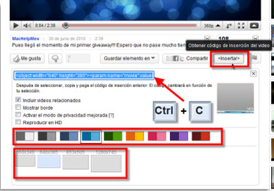 codigo youtube video Insertar videos de Youtube en Power Point 2010