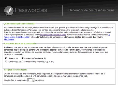contrasena segura Contraseña segura con Password.es