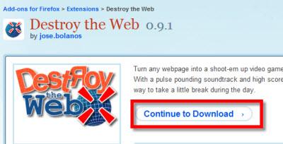 destroy the web Destroy the Web, juega con Firefox