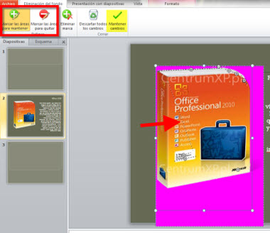 editar fondo imagenes office Desaparecer fondo de imágenes en Office 2010
