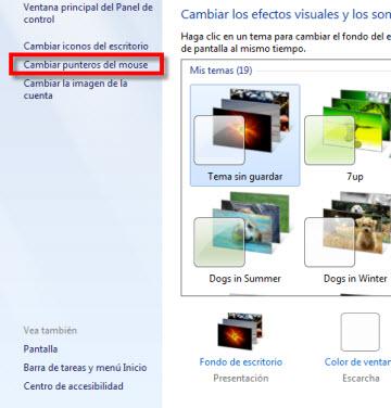puntero 2 Como cambiar la velocidad del puntero en Windows 7