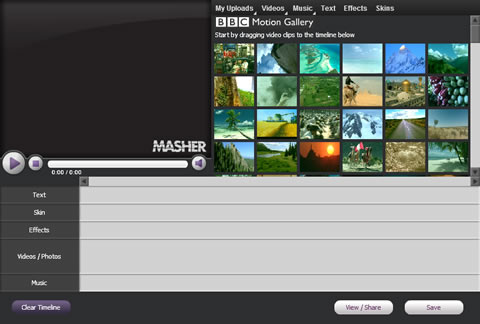 videos de fotos Crear videos con Masher