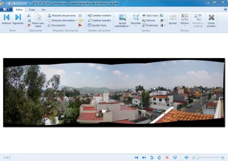 Crear panoramica Galeria fotos de Windows 7 Hacer fotos panorámicas con la galería de Windows Live