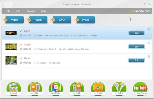 Freemaker video Converter Convierte y edita videos con Freemake Video Converter