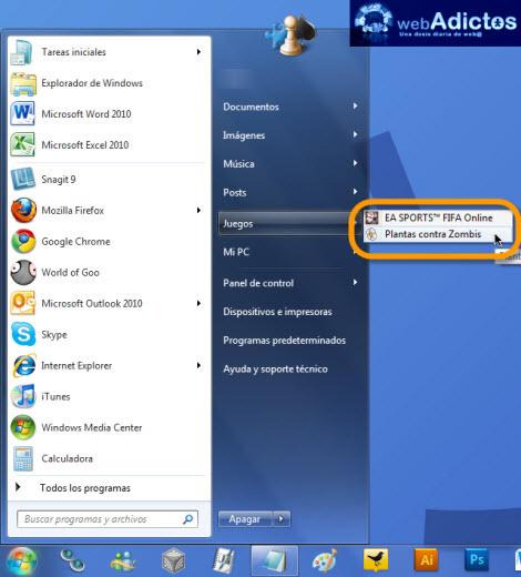 juegos desactivados Desactivar juegos en Windows 7