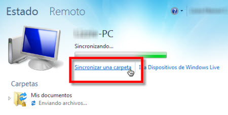 sincronizar carpetas live sync Configurar Windows Live Sync Beta