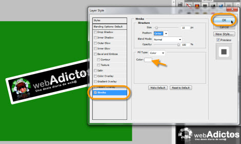 stroke en photoshop Crear una cinta adhesiva en Photoshop