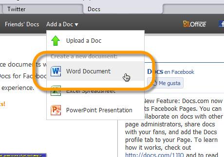 subir documento a doc Editar y compartir documentos de Office en Facebook