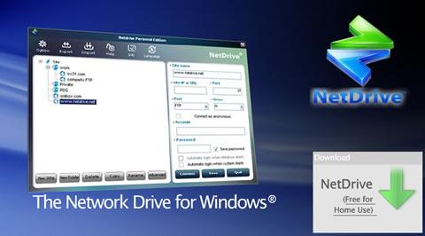 unidades red netdrive Montar FTP como unidades de disco, NetDrive