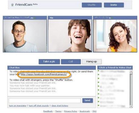 videollamada en facebook Video chat en facebook, FriendCam