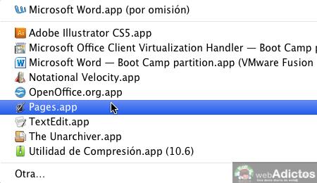 Abrir con otra aplicacion por omision 5 Cambiar la aplicacion que abre un archivo por omisión en Mac