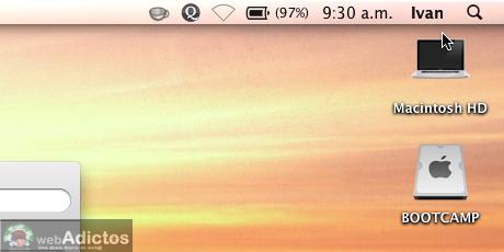 Mostrar usuario en la barra de menus Mac 7 Mostrar cambio rápido de usuario, o sea, tu nombre en la barra de menús