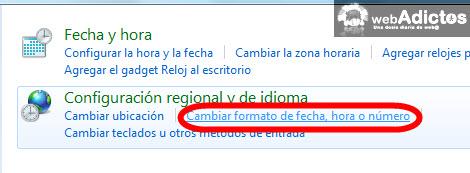 cambiar formato fecha Cambiar el formato de la fecha en Windows 7