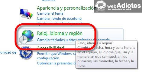 configurar fecha windows7 Cambiar el formato de la fecha en Windows 7