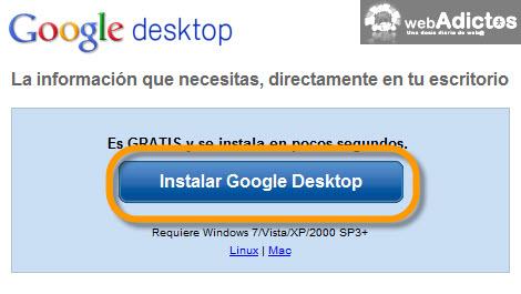google desktop Agregar Google Gadgets en tu escritorio