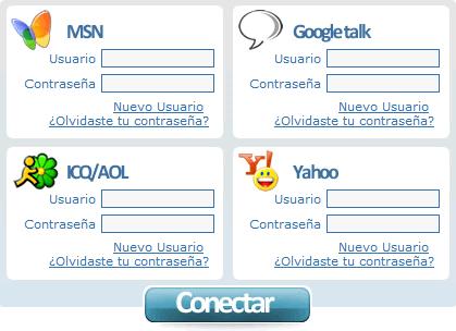 messenger web Abrir messenger con Instan T Messenger