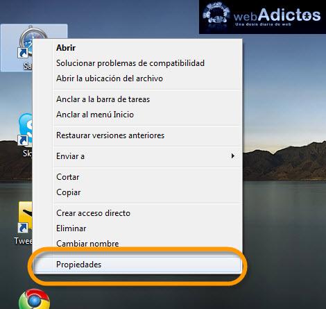 propiedades aplicaciones1 Abrir aplicaciones siempre maximizadas en Windows