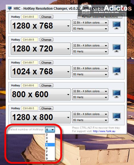 resolucion pantalla cambiar Cambiar la resolución de la pantalla con un atajo