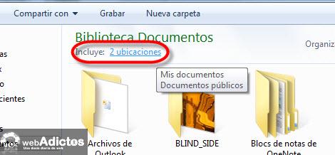 ubicacion de guardado Cambiar la carpeta de guardado por defecto en Windows 7