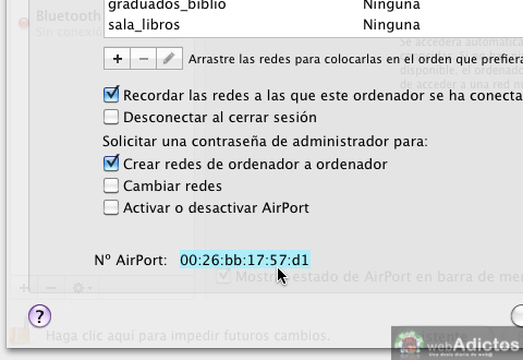Encontrar direccion MAC en tu Mac 4 Obtener tu dirección MAC en tu Mac
