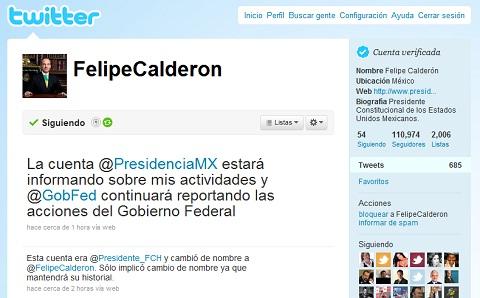 twitter felipe calderon Felipe Calderón verifica su cuenta de Twitter
