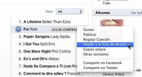 hacer lista deseos itunes 4 Hacer lista de deseos en iTunes Store