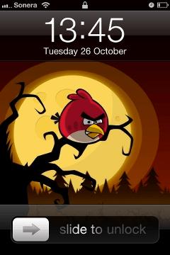lock screen Fondos pantalla de Angry Birds Halloween