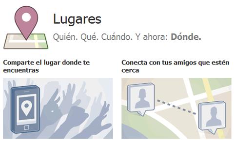 facebook places Facebook Lugares ahora en España