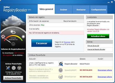 limpiar registro windows Optimizar el registro de Windows con Uniblue RegistryBooster