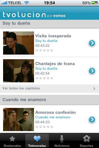 novelas televisa Tvolucion para iPhone y iPad
