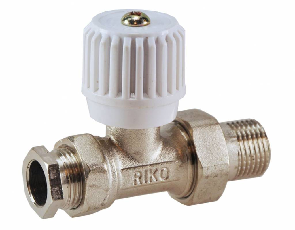 Radiatorkraan Recht Riko Riko Radiatorkraan Inc Adapter 15mm 1 2 Recht