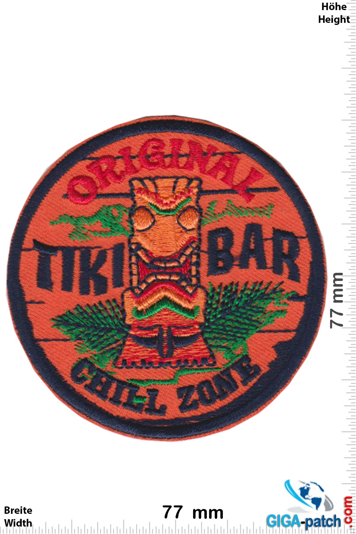 Tiki Bar Original Tiki Bar Chill Zone Patch Back Patches