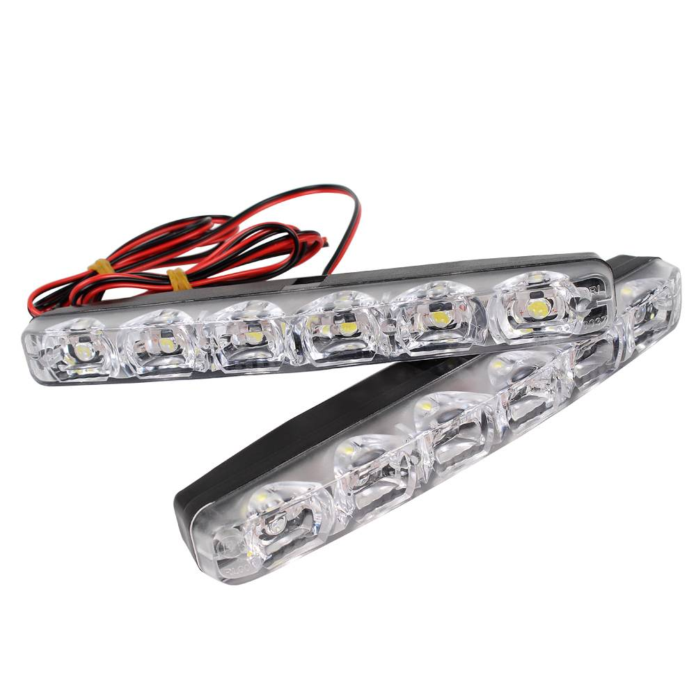 Led Auto Verlichting 1 Paar Drl Led Auto Dagrijverlichting 6 Leds Dc 12 V Auto Mistlamp