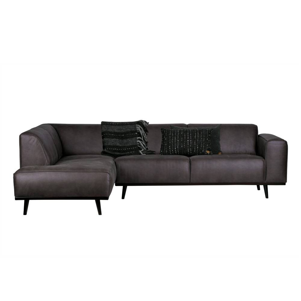Ecksofa Links Kontoauszug Sofa Links Grau Eco Leder 77x274x210cm