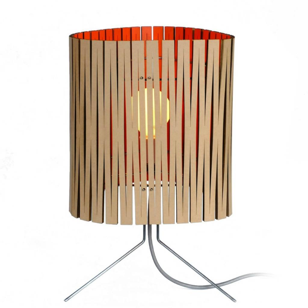 Lampes Design Carton Graypants Lampe De Table Leland En Carton Orange Ø26x47cm