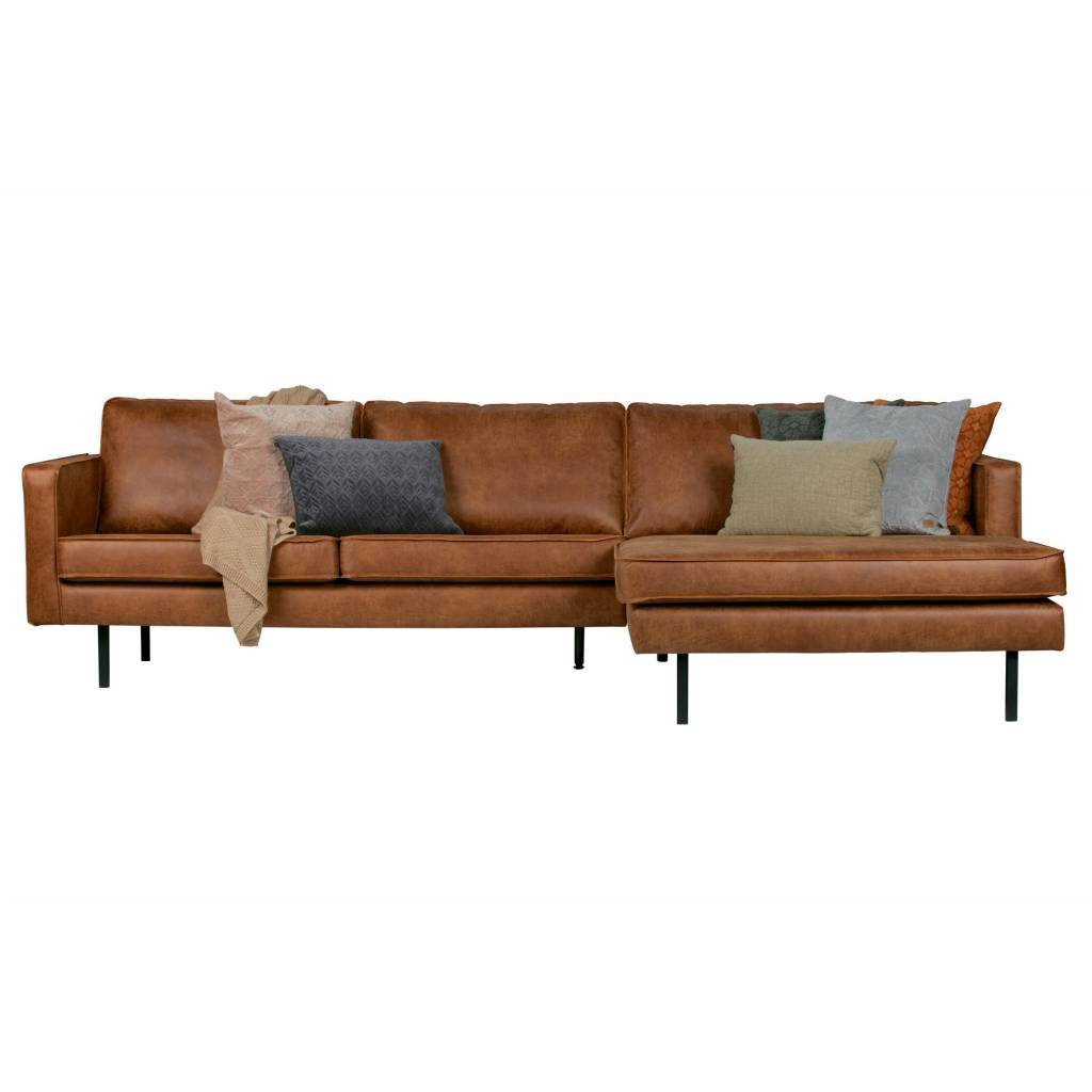 Chaise Longue Bench Rodeo Chaiselongue Rechts Cognac Braun Leder 85x300x86 155cm