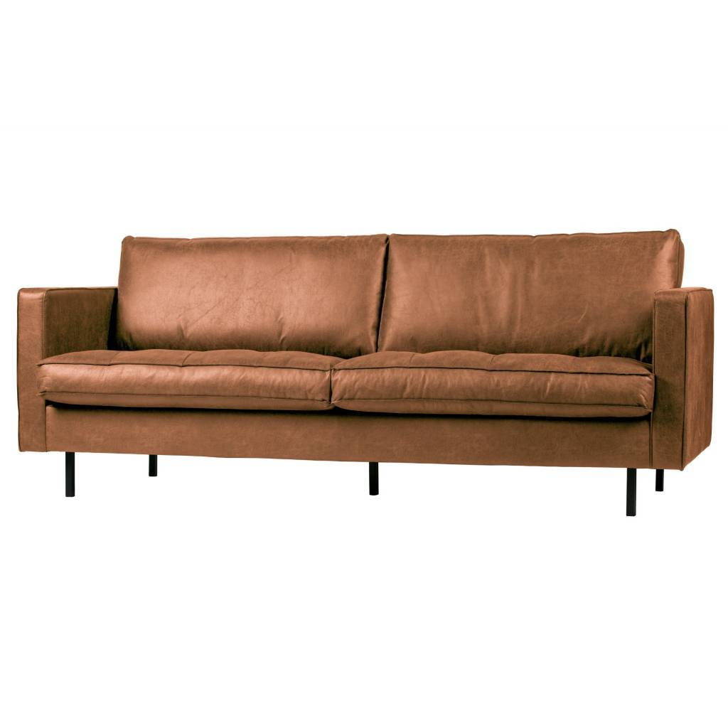 Bepurehome Rodeo Classic Sofa 2 5 Seater Cognac Lefliving Com