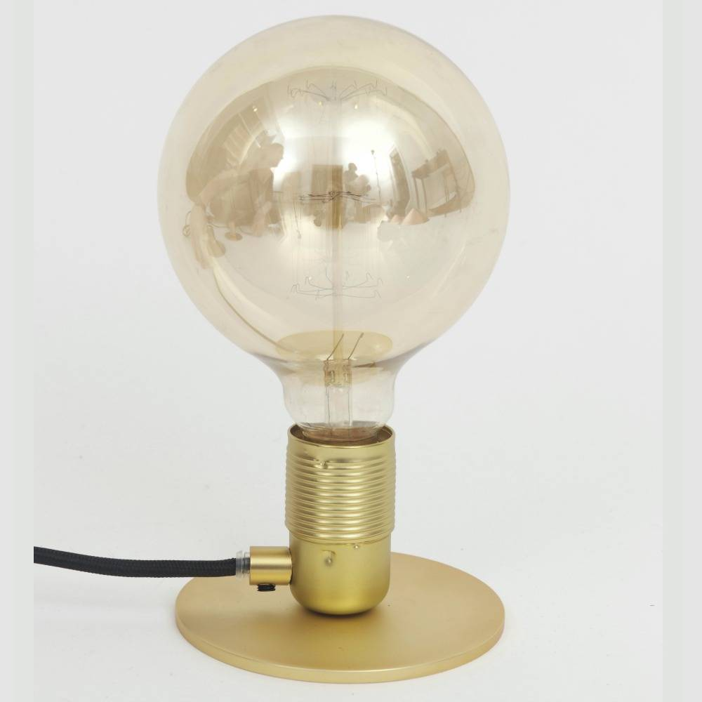 Frama Shop Lampe de table avec E27 Or Laiton Ø12x7,2cm - lefliving.com